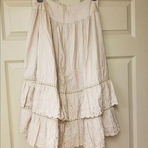 🌺 3/$29 🌺 Vtg slip Prairie Skirt